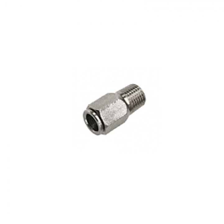 Конектор різьбовий зовнішній 1/4 для нейлонової труби 5 мм