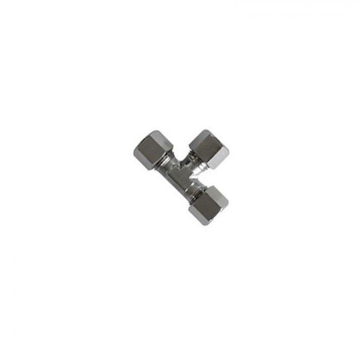 Т-подібне з'єднання для нержавіючої труби 12 мм х 12 мм х 12 мм